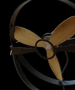Wooden Rotor  Blades Fan Black Metal Slow Speed Aura Ttato