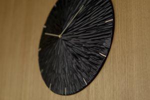 Adela Bacova Tilia Clock Black Detail