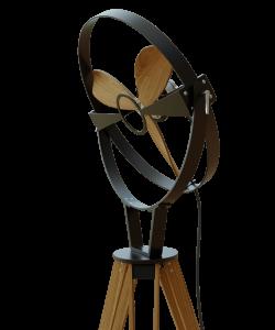 Wooden Fan Front Black Detail Tiltable Head Aura Ttato