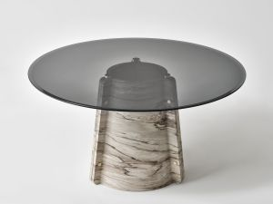 Lithosdesign Elitra Palissandro Brown Marble Dining Table