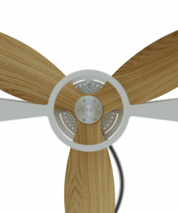 Wooden Rotor Fan White Close Up Aura Ttato