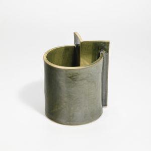 Vase Small O Shape Green 1