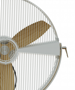 Wooden Rotor Fan White Secure Close Up Aura Ttato