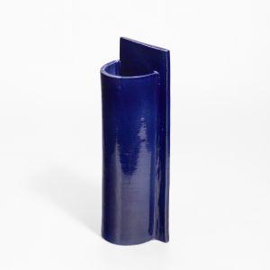Vase Large P Shape Blue 1