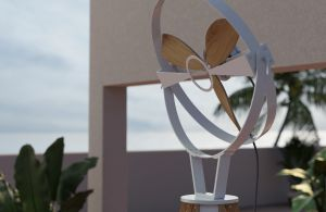 Outdoor Terrace Sky Plants Furniture Standing Fan Aura Ttato