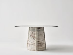 Lithosdesign Elitra Palissandro Brown 1 Marble Dining Tables